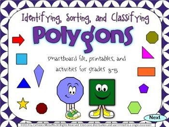 Geometry SMARTBoard and Printables Bundle: Polygons