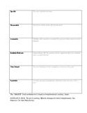 SMARTE Goal Worksheet