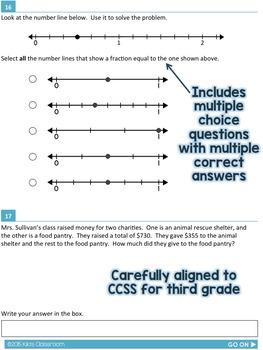 SBAC Math Test Prep 3rd Grade - Printable Practice for Standardized ...