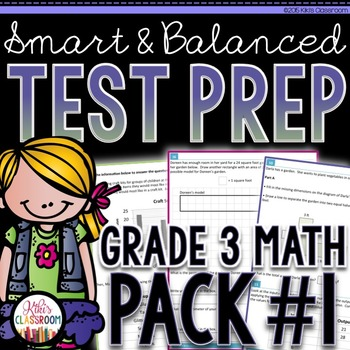 SBAC Math Test Prep 3rd Grade - Printable Practice for Sta