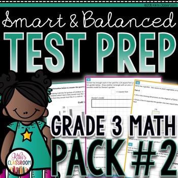 SBAC Math Test Prep 3rd Grade - Printable Practice for Sta
