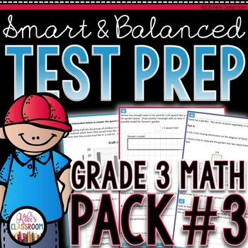 SBAC Math Test Prep 3rd Grade - Printable Practice for Standardized Tests
