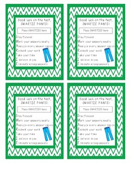 SMARTIE Pants Motivational Testing Notes