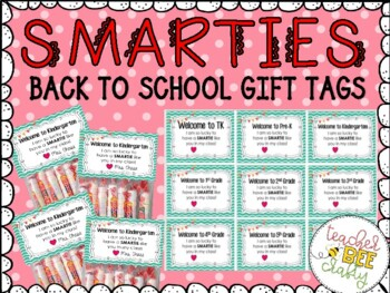 SMARTIES GIFT TAGS FOR BACK TO SCHOOL