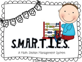 SMARTIES Math Workstations - Black & White with Flags Theme