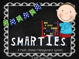 SMARTIES Math Workstations - Blue with Flags Theme