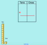 SMARTNotebook Double Digit Addition with Base ten block