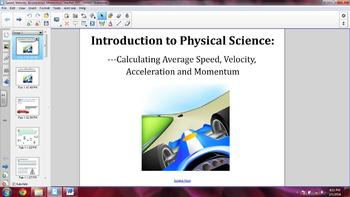 SMARTNotebook/PowerPoint on Speed, Velocity, and Acceleration