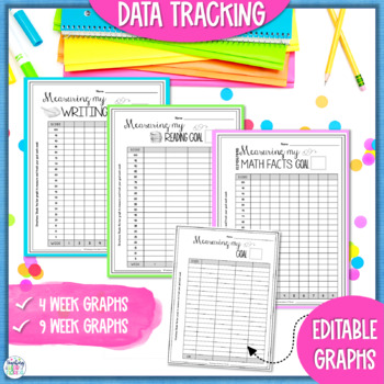 Goal Setting Worksheets for a Growth Mindset - Reading, Writing, & Math