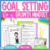 Goal Setting Worksheets for a Growth Mindset - Reading, Wr