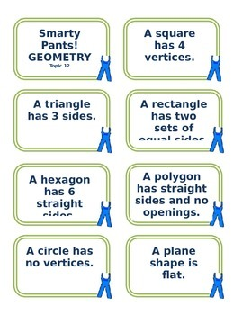 SMARTY PANTS Sort Challenge Center Game Geometry Sample and Editable ...