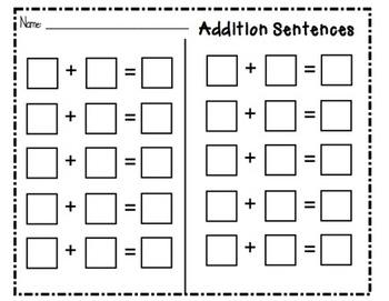 SMARTboard Addition Sentences