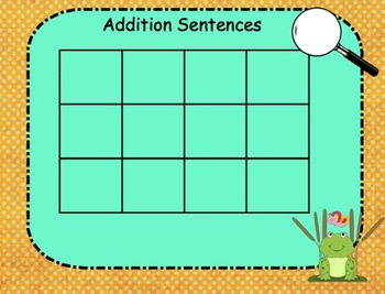 SMARTboard Addition Sentence Practice