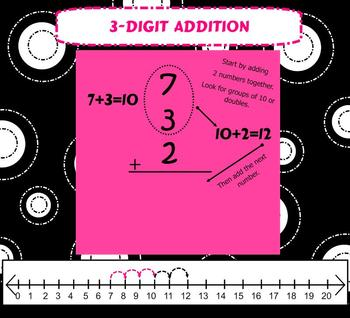 SMARTboard Addition with 3 digit numbers