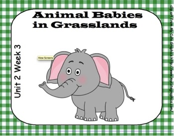SMARTboard Animal Babies in Grasslands Unit 2 Week 3