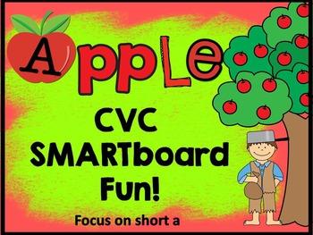 SMARTboard Apple CVC Fun (Focus on Short a)