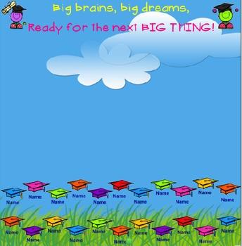 SMARTboard Attendance - Graduation Theme