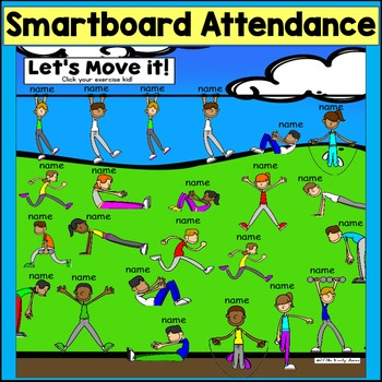SMARTboard Attendance: Let's Move It (Smart board)