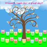 SMARTboard Attendance - Mod Owl Theme