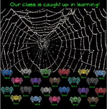 SMARTboard Attendance - Halloween Spider Theme