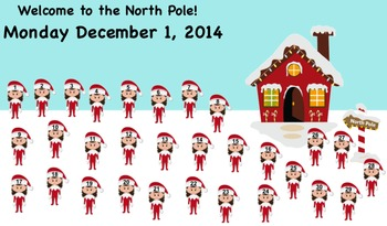 CHRISTMAS SMARTboard Attendance - Welcome to the North Pole