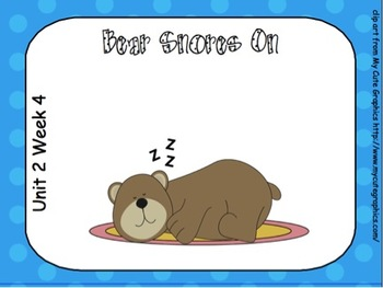 SMARTboard Bear Snores On Unit 2 Week 4