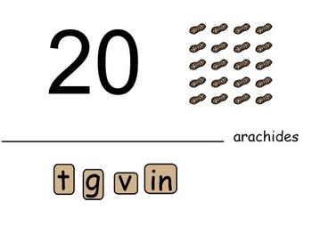 SMARTboard Construction de mots: les nombres