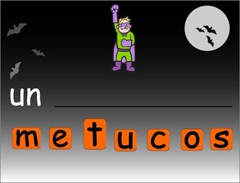 SMARTboard Construction de mots: l'halloween