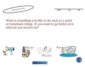 SMARTboard Daily Writing Prompts and Editing Sample