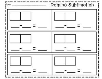 SMARTboard Domino Subtracton Practice