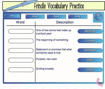 SMARTboard Frindle vocabulary