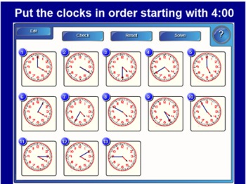 SMARTboard Interactive Telling Time Multilevel, Differentiated, 25 Slides