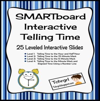 SMARTboard Interactive Telling Time Multilevel, Differenti