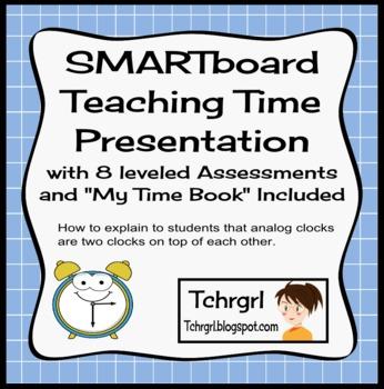 SMARTboard Interactive Telling Time & SMARTboard Teaching Clocks Bundle