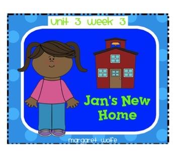 "Reading Street ""Jan's New Home"" SMARTboard-First Grade- Unit 3 Week 3"