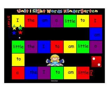 SMARTboard Kindergarten Reading Street Sight Words