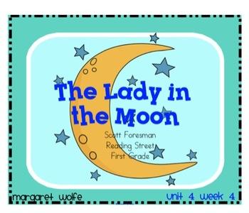 """Reading Street """"Lady in the Moon"""" SMARTboard 1st Gr. Unit"""