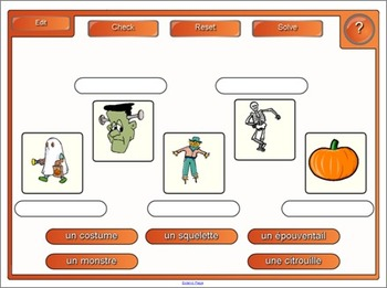 SMARTboard Le vocabulaire de l'halloween