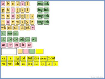 Wilson Reading JUST WORDS SMARTBoard Letter Tiles (Digital Sound Card Display)