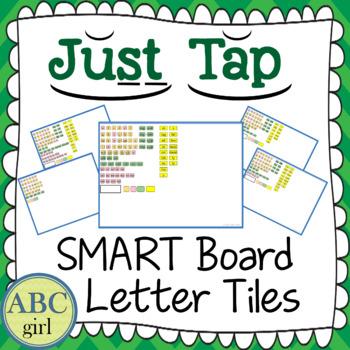 Just Tap Letter Tile Sound Card Display for SMARTBoard
