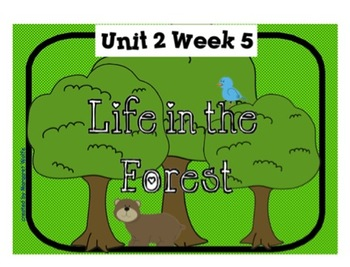 """Reading Street """"Life in the Forest"""" SMARTboard First Grade Unit 2 Week 5"""