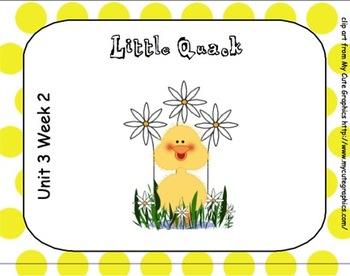 SMARTboard Little Quack Reading Street Unit 3 Week 2