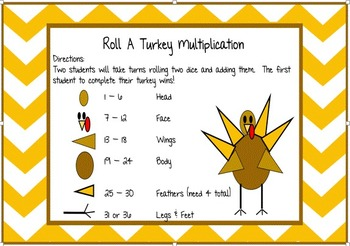 SMARTboard Math Game/Review Roll-A-Snowman, Roll-A-Skeleton, & Roll-A-Turkey