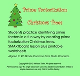 SMARTboard Math Prime Factorization Christmas Holiday Trees .notebook CCSS