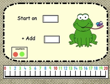 SMARTboard Number Line Addition Practice