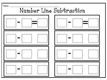 SMARTboard Number Line Subtraction Practice