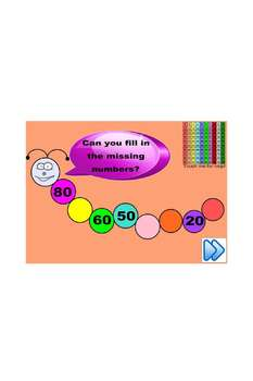 SMARTboard Number Patterns Counting forwards and backwards