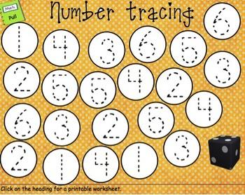 SMARTboard Number Practice 1-6