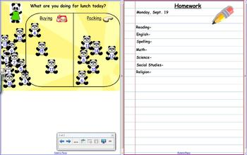 SMARTboard Panda Lunch Count and Homework
