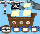 SMARTboard  Pirate CVC FUN! (phonics, short vowels, word fun)